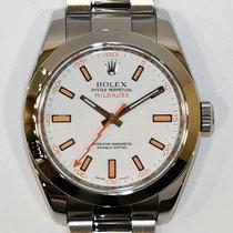 Rolex Milgauss Ατσάλι 40mm Άσπρο Xωρίς ψηφία