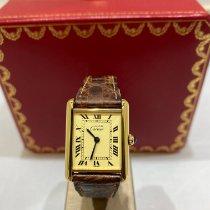 Cartier Tank Louis Cartier Or jaune 29.5mm Argent Romains