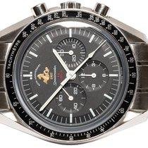 Omega Speedmaster Professional Moonwatch gebraucht 42,00mm Schwarz Chronograph Tachymeter Stahl