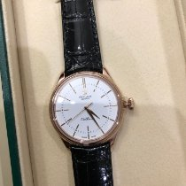 Rolex Rose gold Automatic Black No numerals 39mm pre-owned Cellini Time