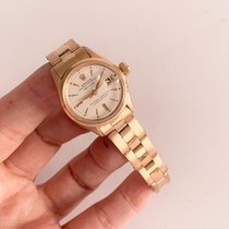 Rolex Or rose Remontage automatique Blanc Sans chiffres 26mm occasion Oyster Perpetual Lady Date