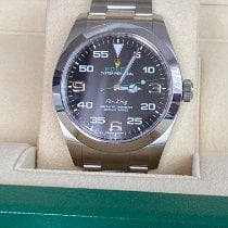 Rolex Air King Acier 40mm Noir Arabes