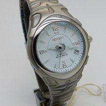 Seiko Kinetic Steel 36mm Blue Arabic numerals