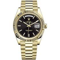 Rolex Day-Date 40 Or jaune 40mm Noir