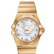 Omega Yellow gold Automatic Silver 38mm new Constellation Men