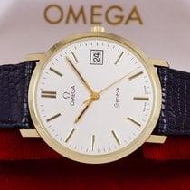 Omega Genève new 1975 Manual winding Watch with original box 1329051 Omega Geneve 14 kar Gold real N.O.S