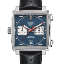TAG Heuer Monaco Calibre 11 Steel 39mm Blue No numerals United States of America, New York, Forest Hills