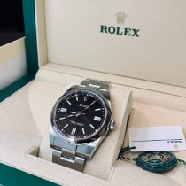 Rolex Oyster Perpetual Ocel 41mm Černá Bez čísel