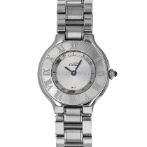Cartier 21 Must de Cartier Steel 28mm Silver Roman numerals United States of America, Maryland, Baltimore, MD