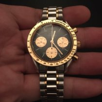 Omega Speedmaster Reduced Or/Acier 39mm Noir Sans chiffres France, Paris