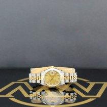 Rolex Lady-Datejust Aço 26mm Ouro Sem números