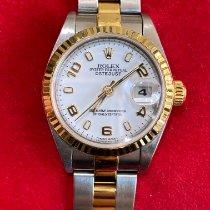 Rolex Lady-Datejust Gull/Stål 26mm Hvit Arabisk