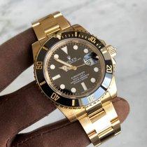 Rolex Oro amarillo Automático Negro Sin cifras 40mm usados Submariner Date