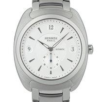Hermès Dressage Stal 40.5mm Srebrny