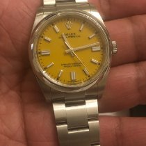 Rolex Oyster Perpetual 36 pre-owned 36mm Yellow Steel