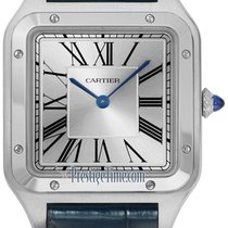 Cartier Steel Manual winding Silver 46.6mm new Santos Dumont