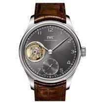 IWC Portuguese Tourbillon nuevo Cuerda manual Reloj con estuche y documentos originales IW546301