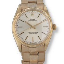Rolex Oyster Perpetual 34 Yellow gold 34mm Silver United States of America, New Hampshire, Nashua