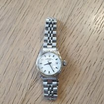 Rolex Or blanc Remontage automatique Blanc 26mm occasion Oyster Perpetual Lady Date