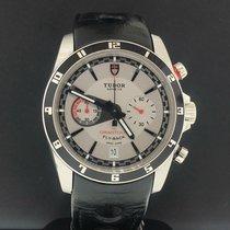Tudor Grantour Chrono Fly-Back occasion 42mm Gris Chronographe Date Cuir
