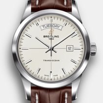Breitling Transocean Day & Date Steel 43mm Silver No numerals United States of America, New Jersey, Princeton