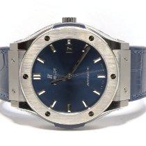 Hublot Classic Fusion Blue nuevo 2020 Automático Reloj con estuche y documentos originales 511.NX.7170.LR