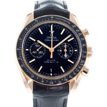 Omega Rose gold Automatic Black 44mm pre-owned Speedmaster Professional Moonwatch
