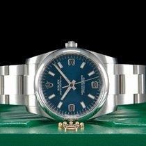 Rolex Oyster Perpetual 34 Stal 34mm Niebieski