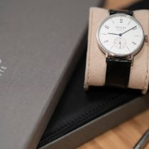 NOMOS Tangente Neomatik pre-owned 38.5mm Silver Leather