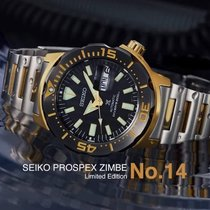 Seiko Prospex Steel 49.4mm Black No numerals