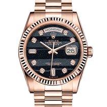 Rolex Day-Date 36 Rose gold 36mm Black No numerals United Kingdom