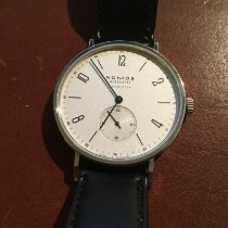 NOMOS Tangente Neomatik pre-owned 38.5mm White Leather
