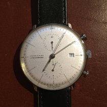Junghans max bill Chronoscope occasion 40mm Argent Chronographe Date Cuir