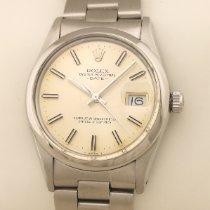 Rolex Oyster Perpetual Date Ατσάλι 34mm Ασημί Xωρίς ψηφία