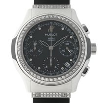 Hublot Elegant Steel Black No numerals