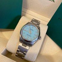 Rolex Oyster Perpetual 31 Acier 31mm Bleu Sans chiffres