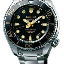 Seiko Marinemaster Titanium 48mm Black No numerals