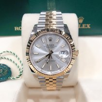 Rolex Datejust Yellow gold 41mm Silver No numerals