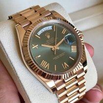 Rolex Day-Date 40 Oro rosa 40mm Verde Romani Italia, l'aquila
