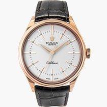 Rolex Cellini Time Oro rosa 39mm Bianco Senza numeri Italia, l'aquila