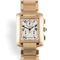 Cartier Tank Française W50005R2 Yellow gold 28mm Chronograph