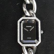 Chanel Première Acier 16mm Noir Sans chiffres