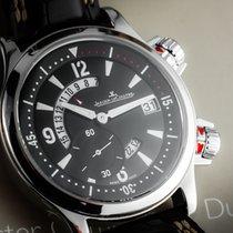 Jaeger-LeCoultre Master Compressor GMT Steel 41,5mm Black Arabic numerals