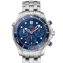 Omega Seamaster Diver 300 M neu 2020 Automatik Chronograph Uhr mit Original-Box 212.30.42.50.03.001