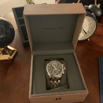 Hamilton Jazzmaster Auto Chrono pre-owned 42mm Black Chronograph Date Steel