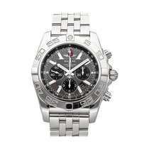 Breitling Chronomat GMT pre-owned 47mm Grey Chronograph Date Tachymeter Fold clasp