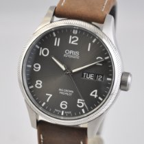 Oris Big Crown ProPilot Day Date Steel 45mm Grey Arabic numerals