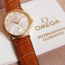 Omega De Ville Prestige Gelbgold 34mm Silber Keine Ziffern