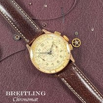 Breitling Rotgold Handaufzug Silber Arabisch 36mm gebraucht Chronomat