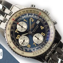 Breitling Old Navitimer pre-owned Blue Chronograph Date Leather